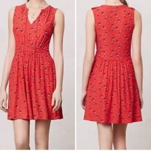 Anthropologie Leifnotes | red ship + anchor dress